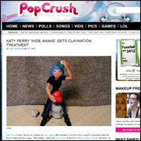 Pop Crush review of the yhAnimation animated music video for Wide Awake by Katy Perry
